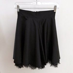 Forever 21 Black Skirt with Lace Trim